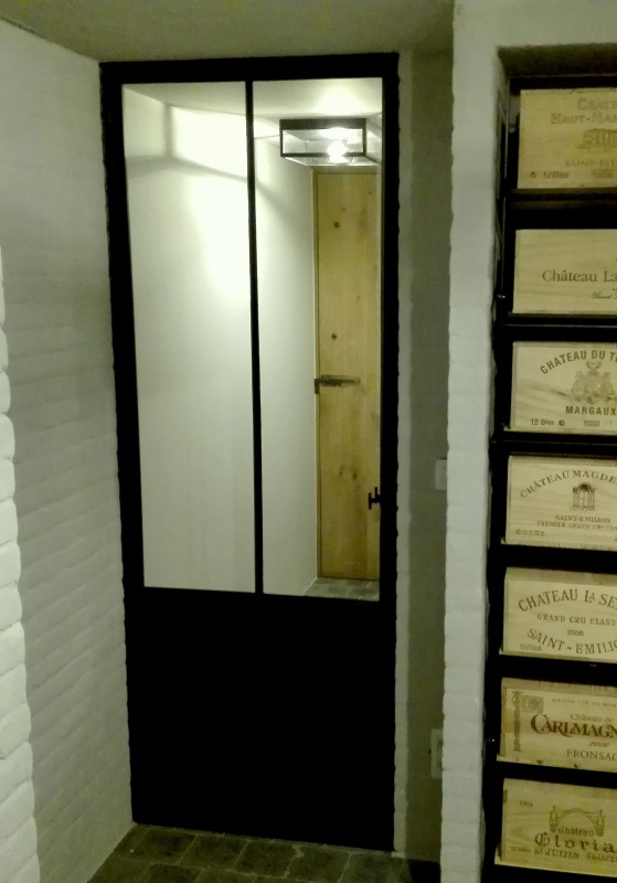 metalen binnendeur met stopverf (V64)