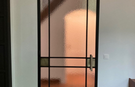 metalen binnendeur stopverf 21-96 messing + kath.