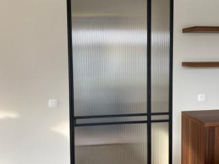 metalen binnendeur strak 21-03 flute glas
